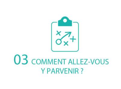ETAPE 3 : COMMENT ALLEZ VOUS Y PARVENIR ?